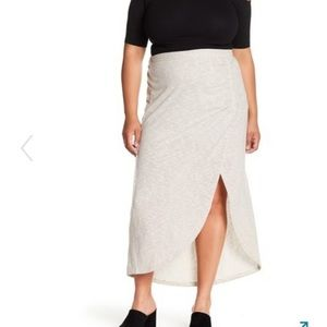 SUSINA Ruched Maxi Skirt Plus Size 3X